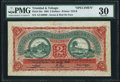 World Currency, Trinidad And Tobago Government of Trinidad and Tobago 2 Dollars 1.4.1905 Pick 2bs Specimen PMG Very Fine 30.. ...