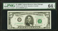 Small Size:Federal Reserve Notes, Fr. 1971-G $5 1969B Federal Reserve Note. PMG Choice Uncirculated 64 EPQ.. ...