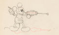 Animation Art:Production Drawing, Mickey's Garden Mickey Mouse Animation Drawing (Walt Disney,1935).. ...