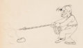 Animation Art:Production Drawing, Mickey's Gala Premier Will Rogers Animation Drawing (Walt Disney, 1933). . ...