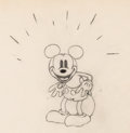 Animation Art:Production Drawing, Giantland Mickey Mouse Animation Drawing (Walt Disney, 1933). . ...