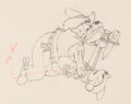 Animation Art:Production Drawing, Two-Gun Mickey Mickey Mouse and Pete Animation Drawing (Walt Disney, 1933). . ...