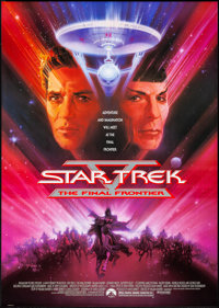 Star Trek V: The Final Frontier & Other Lot (Paramount, 1989). Rolled, Overall: Very Fine+. One Sheets (2) (27&q...
