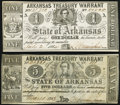 Obsoletes By State:Arkansas, (Little Rock), AR- State of Arkansas $5 Mar. 16, 1863 Cr. 52B Extremely Fine-About Uncirculated;. (Washington), AR- St... (Total: 2 notes)