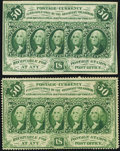 Fractional Currency:First Issue, Fr. 1311 50¢ First Issue VF;. Manuscript Note Fr. 1312 50¢ First Issue VF.. ... (Total: 2 notes)