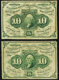 Fractional Currency:First Issue, Fr. 1241 10¢ First Issue VF;. Fr. 1242 10¢ First Issue Fine-VF.. ... (Total: 2 notes)