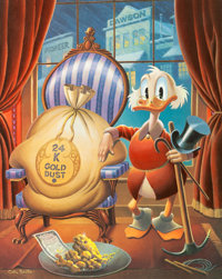 Carl Barks Till Death Do Us Part Signed Limited Edition Gold Plate Lithograph 91/100 (Another Rainbow, 1983)