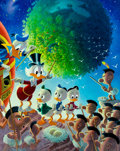 Memorabilia:Disney, Carl Barks An Astronomical Predicament Signed Limited Edition Lithograph Gold Plate Print #91/100 (Another Rainbow...