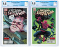 Modern Age (1980-Present):Superhero, The Amazing Spider-Man #698 and 699 CGC-Graded Group (Marvel, 2013) NM/MT 9.8 White pages.... (Total: 2 )