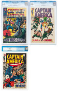 Silver Age (1956-1969):Superhero, Captain America #101, 104, and 106 CGC-Graded Group (Marvel, 1968).... (Total: 3 )
