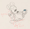 Animation Art:Production Drawing, Boat Builders Mickey Mouse Animation Drawing (Walt Disney, 1938). . ...