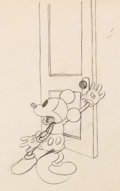 Animation Art:Production Drawing, Mickey Mouse Vintage Animation Drawing (Walt Disney, c. 1930s). . ...