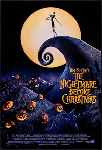 """The Nightmare Before Christmas (Touchstone, 1993). Rolled, Very Fine/Near Mint. One Sheet (27"""" X 40"""") DS. Anim..."""
