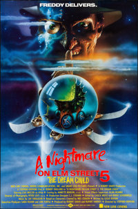 """A Nightmare on Elm Street V: The Dream Child (New Line, 1989). Rolled, Very Fine/Near Mint. One Sheet (27"""" X 41&quo..."""