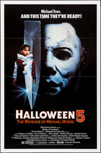 Halloween 5: The Revenge of Michael Myers & Other Lot (Galaxy International, 1989). Folded & Rolled, Ver...