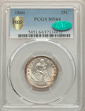 1860 25C MS64 PCGS Secure. CAC. PCGS Population: (22/12 and 0/1+). NGC Census: (10/8 and 0/0+). CDN: $1,250 Whsle. Bid f...