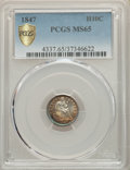 Seated Half Dimes: , 1847 H10C MS65 PCGS Secure. PCGS Population: (20/20 and 1/1+). NGC Census: (18/16 and 0/1+). CDN: $950 Whsle. Bid for probl...