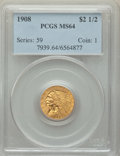 Indian Quarter Eagles: , 1908 $2 1/2 MS64 PCGS. PCGS Population: (1461/692). NGC Census: (1319/430). CDN: $825 Whsle. Bid for problem-free NGC/PCGS ...