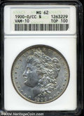 1900-O/CC $1 MS62 ANACS. VAM-10. A Top 100 Variety. VAM-10 shares the same reverse as VAM-7 but has an open 9 in the dat...