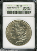 1900-O/CC $1 MS62 ANACS. VAM-11. A Top 100 Variety. A bright example with good luster, the surfaces are slightly glossy...