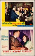 """Movie Posters:Film Noir, Sorry, Wrong Number & Other Lot (Paramount, 1948). Very Fine-.Lobby Cards (2) (11"""" X 14""""). Film Noir.. ... (Total:..."""