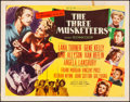"Movie Posters:Swashbuckler, The Three Musketeers (MGM, 1948). Folded, Fine/Very Fine. HalfSheet (22"" X 28"") & Lobby Card (11"" X 14"") Style B. Sw..."
