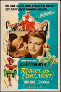 """Movie Posters:Musical, Tonight and Every Night (Columbia, 1945). Folded, Very Fine-. OneSheet (27"""" X 41"""") Style B. Musical.. ..."""