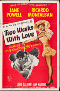 """Movie Posters:Comedy, Two Weeks with Love (MGM, 1950). Folded, Fine/Very Fine. One Sheet(27"""" X 41""""), Title Lobby Card, & Lobby Cards (2) (11"""" X 1...(Total: 4 Items)"""
