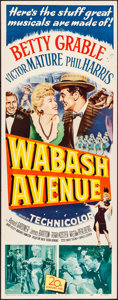 "Movie Posters:Musical, Wabash Avenue (20th Century Fox, 1950). Folded, Very Fine-. Insert(14"" X 36""). Musical.. ..."