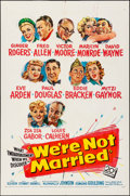 """Movie Posters:Comedy, We're Not Married (20th Century Fox, 1952). Folded, Very Fine-. OneSheet (27"""" X 41"""") & Lobby Card (11"""" X 14""""). Comedy.. ...(Total: 2 Items)"""