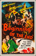 "Movie Posters:Science Fiction, Beginning of the End (Republic, 1957). Fine/Very Fine on Linen. OneSheet (27"" X 41""). Science Fiction.. ..."