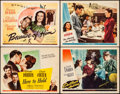 """Movie Posters:Musical, Hers to Hold & Other Lot (Universal, 1943). Fine/Very Fine.Title Lobby Cards (2) & Lobby Cards (2) (11"""" X 14""""). Musical..... (Total: 4 Items)"""