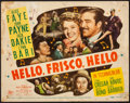 "Movie Posters:Musical, Hello, Frisco, Hello (20th Century Fox, 1943). Fine. Title LobbyCard (11"" X 14""). Musical.. ..."
