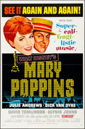 """Movie Posters:Fantasy, Mary Poppins & Other Lot (Buena Vista, 1964). Folded, Overall: Very Fine-. One Sheets (2) (27"""" X 41"""") Academy Award Style. P... (Total: 2 Items)"""