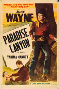 """Movie Posters:Western, Paradise Canyon (Lone Star, R-1940s). Folded, Fine/Very Fine. One Sheet (27"""" X 41""""). Western.. ..."""
