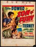 "Movie Posters:Adventure, Son of Fury (20th Century Fox, 1942). Fine-. Trimmed Window Card(Approx. 14"" X 18""). Adventure.. ..."