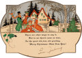 Baseball Collectibles:Others, 1930's Lou Gehrig Signed Christmas Card. ...