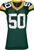 Football Collectibles:Balls, 2017 Blake Martinez Game Worn & Unwashed Green Bay Packers Jersey - Used 10/22 vs. Saints (12 tackle game)....
