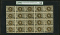 Fractional Currency:Second Issue, Fr. 1234 5¢ Second Issue Full Sheet of 20 PMG About Uncirculated 53 Net.. ...