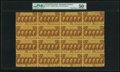 Fr. 1281 25¢ First Issue Full Sheet of 16 PMG About Uncirculated 50 Net