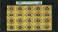 Fractional Currency:First Issue, Fr. 1230 5¢ First Issue Full Sheet of 20 with Inverted Backs PMGChoice Very Fine 35.. ...