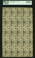 Fractional Currency:Third Issue, Fr. 1226 3¢ Third Issue Full Sheet of 25 PCGS Choice About New 55PPQ.. ...