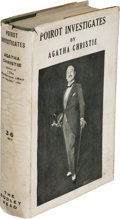 """Books:Mystery & Detective Fiction, Agatha Christie. Poirot Investigates. London: John Lane the Bodley Head Limited, 1925. """"Cheap"""" edition. From the lib..."""