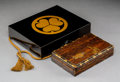 Decorative Accessories:Japanese, A Japanese Lacquer Suzuribako Writing Box. 2-1/2 x 10-3/4 x 8-1/2 inches (6.4 x 27.3 x 21.6 cm). ESTATE OF SUMI MIYAZAWA H...