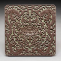 Carvings:Chinese, A Chinese Carved Songhua Ink Stone Box. Marks: Nine-character mark incised. 1 x 7-1/4 x 7-1/4 inches (2.5 x 18.4 x 18.4 cm)...