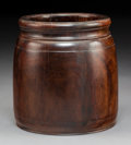 Asian:Chinese, A Huanghuali Barrel-Form Brushpot, Qing Dynasty, 18th century. 7 x 6-1/2 x 6-1/2 inches (17.8 x 16.5 x 16.5 cm). PROVENANC...