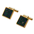 Estate Jewelry:Cufflinks, Lapis Lazuli, Malachite, Gold Cuff Links, Asprey, English. ...