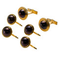 Estate Jewelry:Cufflinks, Mabe Pearl, Gold Dress Set. ...