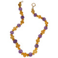 Estate Jewelry:Necklaces, Citrine, Amethyst, Gold Necklace. ...