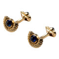Estate Jewelry:Cufflinks, Sapphire, Gold Cuff Links, Mauboussin, French. ...